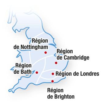 Angleterre : les régions