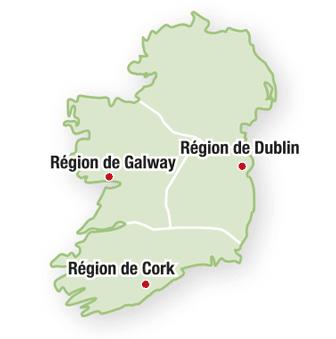 Irlande : les régions