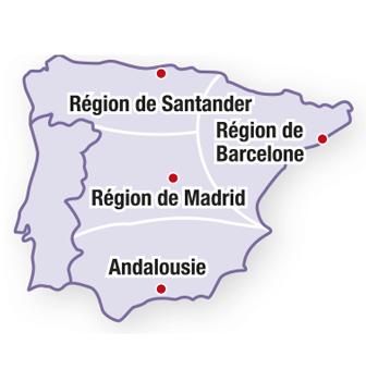 Espagne : les régions