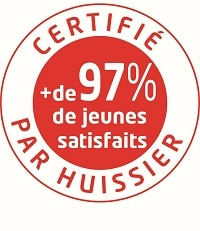 small logo 97 pour cent de jeunes satisfaits de leur séjour linguistique avec LEC